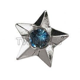 Zvezda s safirjem-belo zlato